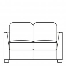 Sasha - 196cm Large Sofa In Fabric