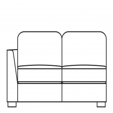 Sasha - 175cm Sofa Bed 1 LHF Arm In Fabric