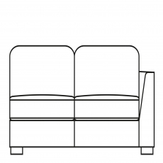 Sasha - 175cm Sofa Bed 1 RHF Arm In Fabric