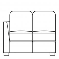 Sasha - 155cm Sofa Bed 1 LHF Arm In Fabric