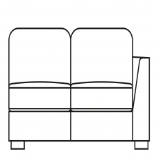 Sasha - 155cm Sofa Bed 1 RHF Arm In Fabric