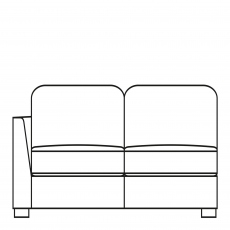 Sasha - 203cm Extra Large Sofa 1 LHF Arm In Fabric