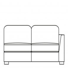 Sasha - 203cm Extra Large Sofa 1 RHF Arm In Fabric