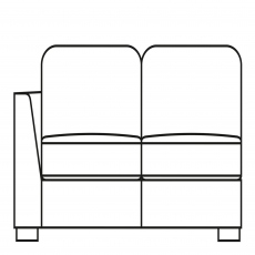 Sasha - 153cm Small Sofa 1 LHF Arm In Fabric