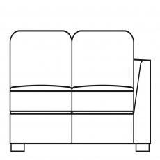 Sasha - 153cm Small Sofa 1 RHF Arm In Fabric