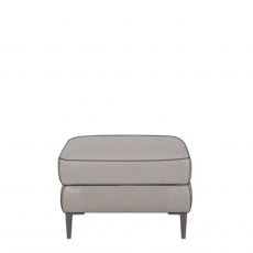 Bella - Footstool With Metal Leg In Fabric