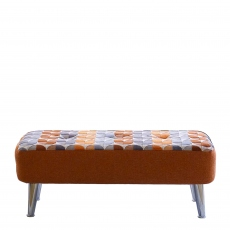 Malaga - Medium Designer Bench Stool In Fabric