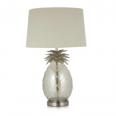 LA Collection Pineapple Table Lamp Cut Glass/Antique Nickel