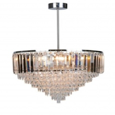 LA Collection Vienna 5 Light Semi Flush Crystal/Chrome