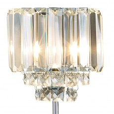 LA Collection Vienna Table Lamp Crystal/Chrome
