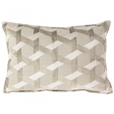 Brooklyn Oblong Cushion Ivory/Taupe
