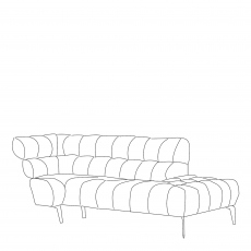 Vincenzo - RHF Corner Chaise In Grade BSF30 Fabric