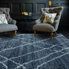 Alto Rug AL01 Blue and Cream 120cm x 170cm