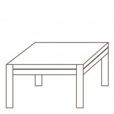 Porto - 80cm Square Coffee Table Oak