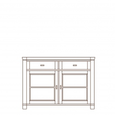 Porto - 2 Door Sideboard Oak