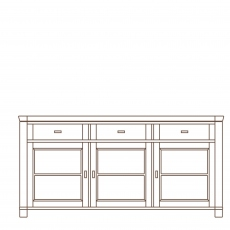 Porto - 3 Door Sideboard Oak