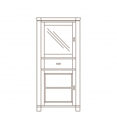 Porto - 1 Door Display Unit RH Oak