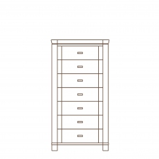 Porto - 7 Drawer Unit Oak