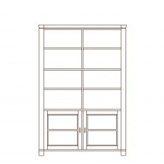 Porto - 2 Door Base Unit Open Shelf Top Oak