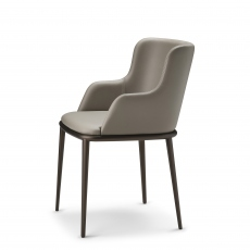 Cattelan Italia Magda ML - Dining Chair With Arms In Synthetic Leather