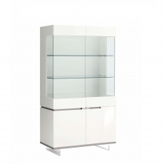 Heiron - 2 Door Curio Cabinet In White High Gloss