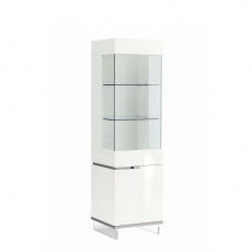 Heiron - 1 Door Right Curio Cabinet In White High Gloss