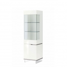 Heiron - 1 Door Left Curio Cabinet In White High Gloss