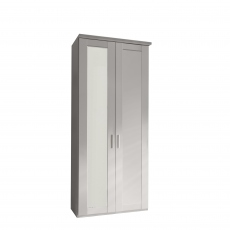 Milton  - 2 Door 100cm Hinged-door Wardrobe With 1 Door Mirrored Left