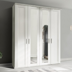 3 Door 150cm Hinged-door Wardobe With 3 Doors Mirrored - Milton