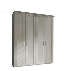 Milton  - 4 Plain Door 200cm Hinged-door Wardobe