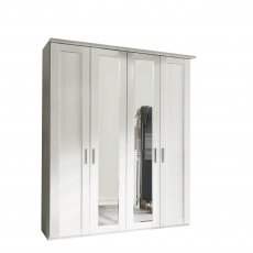 Milton  - 4 Door 200cm Hinged-door Wardobe With 2 Doors Mirrored