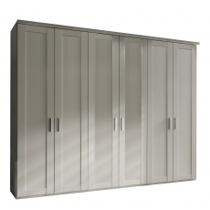 Milton  - 6 Plain Door 300cm Hinged-door Wardobe