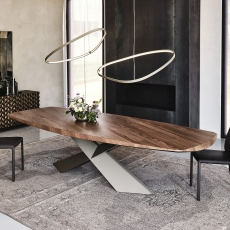 Cattelan Italia Tyron Wood - Dining Table 250cm Barrel Top With Rounded Edges