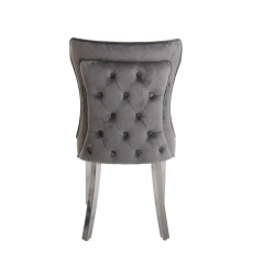 Alexis - Dining Chair In Grey Velvet
