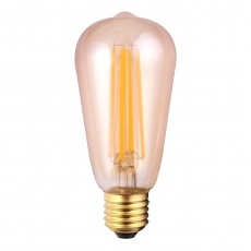 LED Vintage Valve Bulb 8w ES Tinted Warm White Dimmable