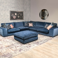 Cloud - Extra Large Sofa In Fabric Grade L Inc Scatters