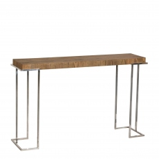 Marseille - Console Table In Cracked Oak Finish