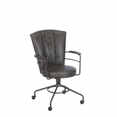 Lyndon  - Desk Chair In Grey PU
