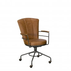 Lyndon  - Desk Chair In Tan PU