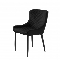 Copeland  - Dining Chair In Black Velvet