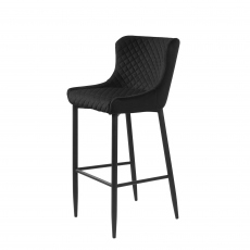 Copeland - Counter Bar Stool In Blue Velvet