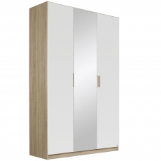 Gamma - 136cm Hinged 3 Door 1 Mirror Robe
