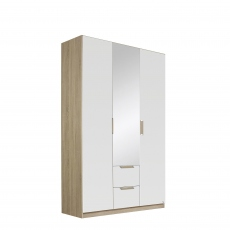 Gamma - 136cm Hinged 3 Door 1 Mirror 2 Drawer Robe