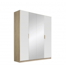 Gamma - 181cm Hinged 4 Door 2 Mirror Robe