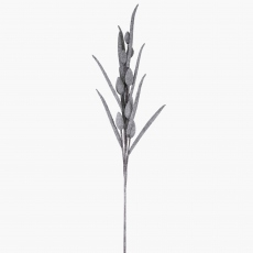 Bunny Faux Tail Grass Grey/Glitter 125cm