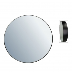 Danny Round Mirror Medium Black