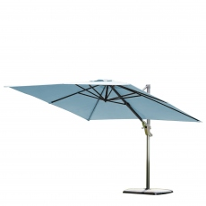 Biarritz - 3m x 3m Square Parasol In Duckegg With Sand & Water Base