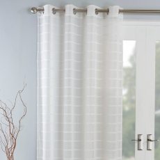 Antigua Eyelet Headed Voile Panel Natural
