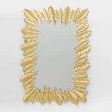 Feather Wall Mirror Gold 49x69cm