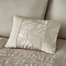 Catherine Lansfield Velvet Sparkle Champagne Cushion 30x40